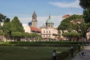 Manila Cathedral as seen from Fort Santiago - A stop on the Day tour of Manila City
