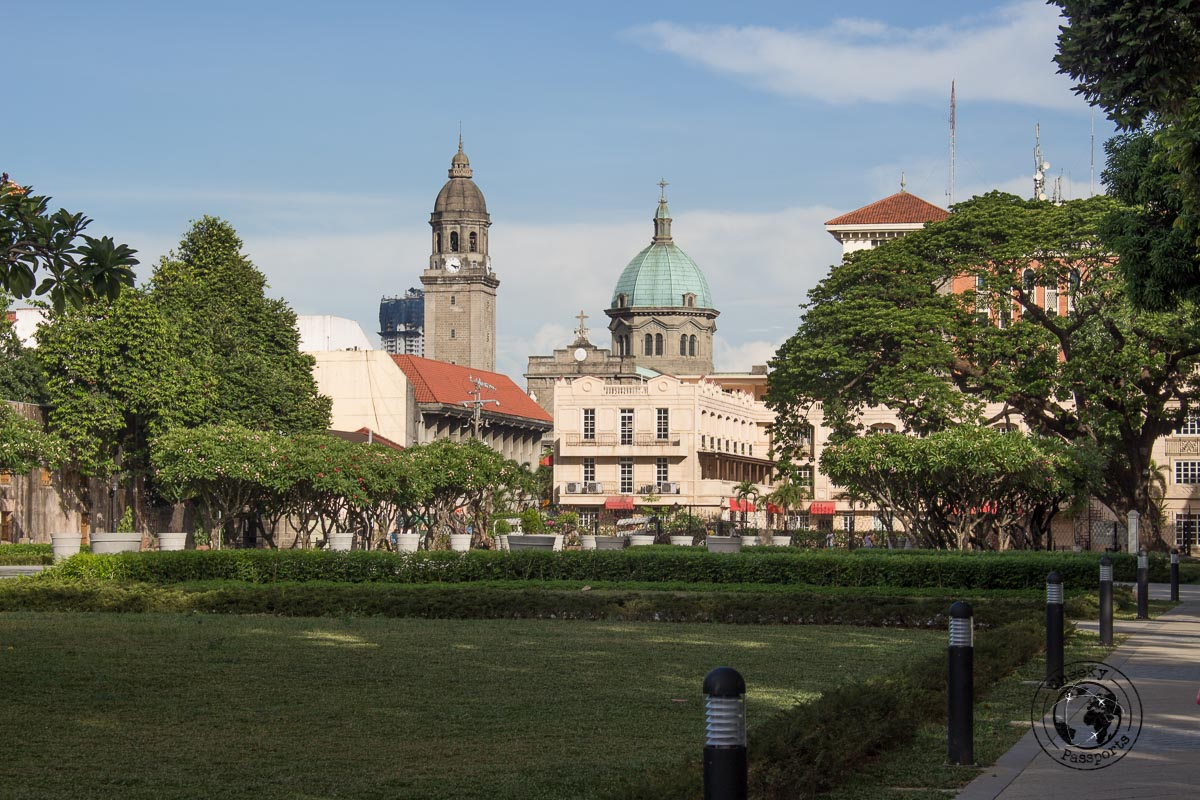 Manila Cathedral as seen from Fort Santiago - A stop on the Day tour in Manila City