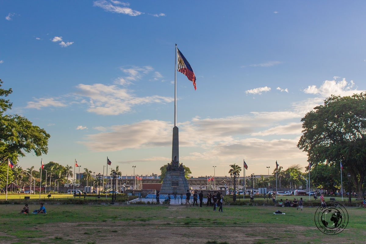 Philippines Flag at Rizal Park - A stop on the Day tour in Manila City