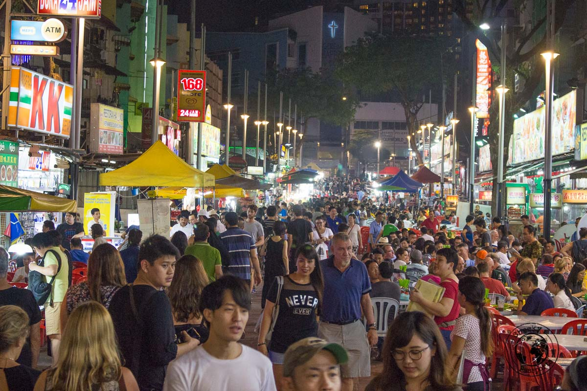Jalan Alor, Night market known for street food in malaysia