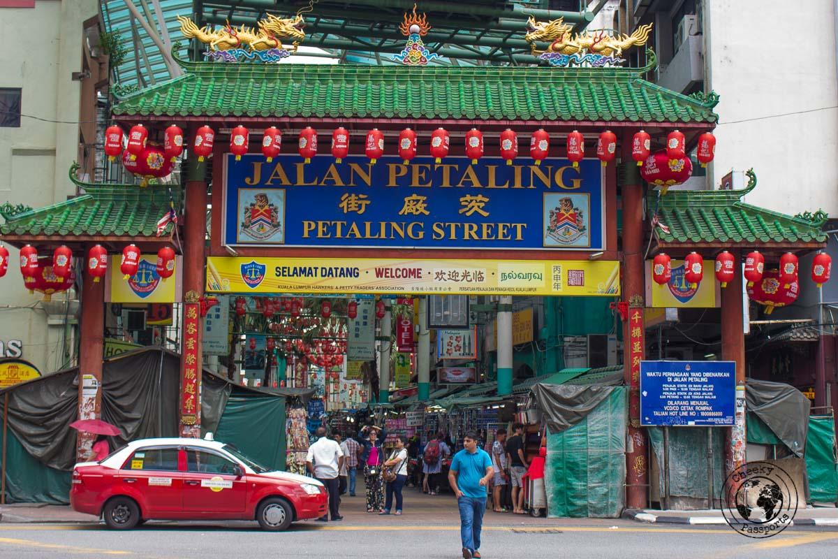Jalan Petaling entrance - Top tourist spots in Kuala Lumpur