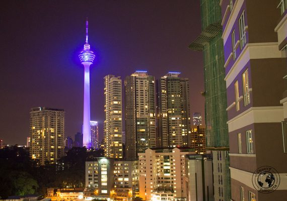 KL tower by night - Top attractions in Kuala Lumpur