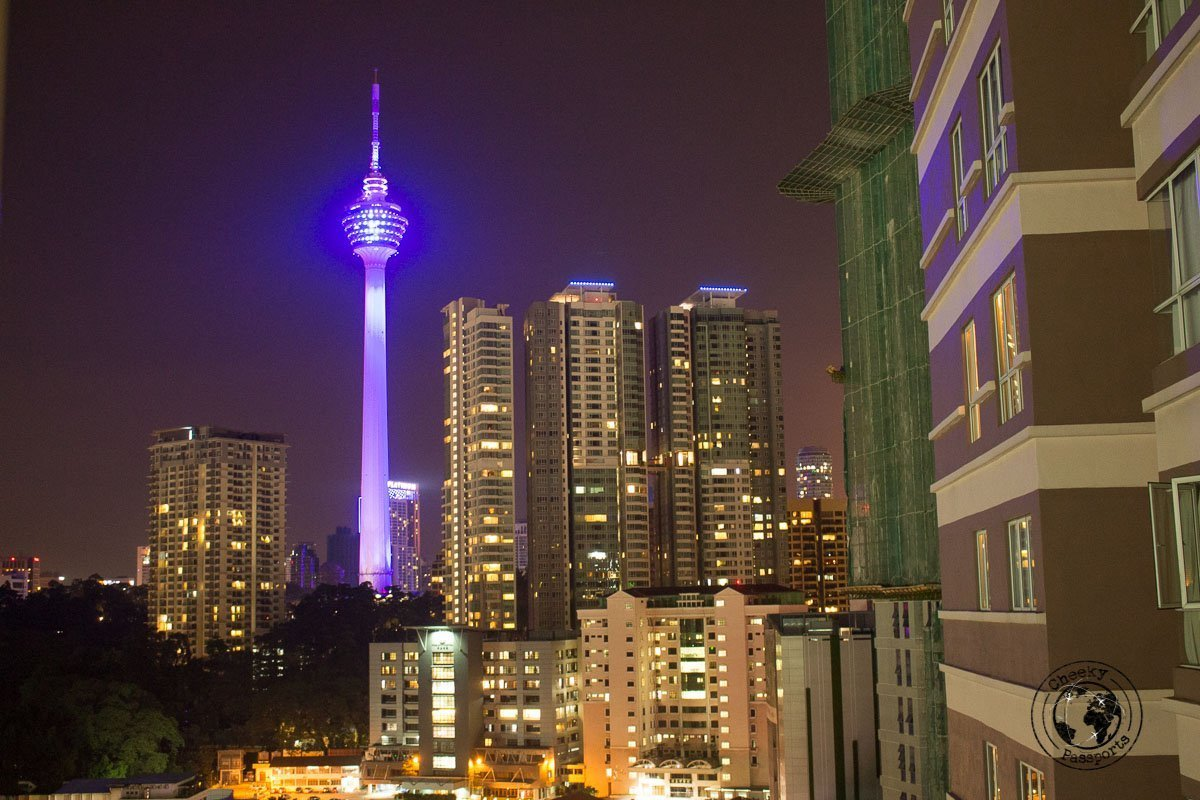 KL tower by night - Malaysia Travel Budget and Expenses