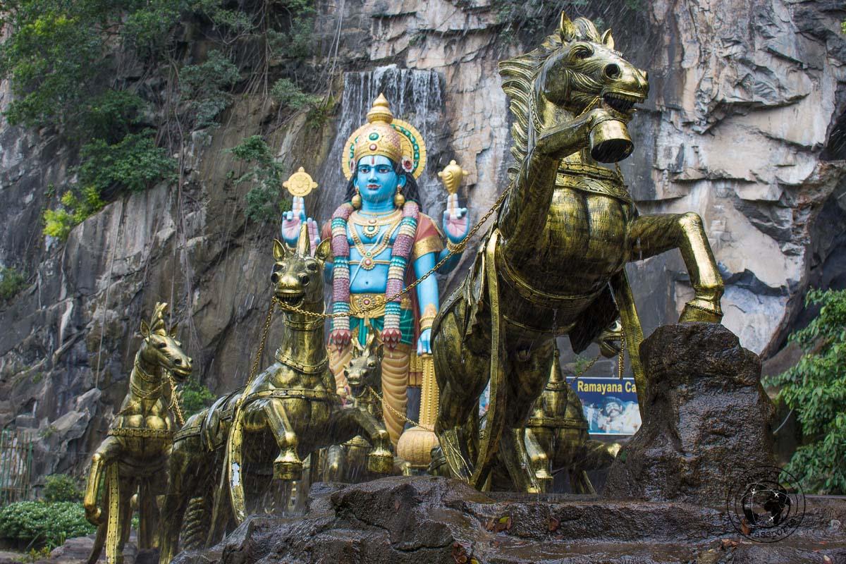 Ramayana Cave at Batu Caves - Top tourist spots in Kuala Lumpur