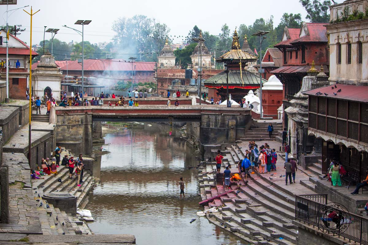 Cremations at the Pashupatinath temple, one of the best places to visit in Kathmandu