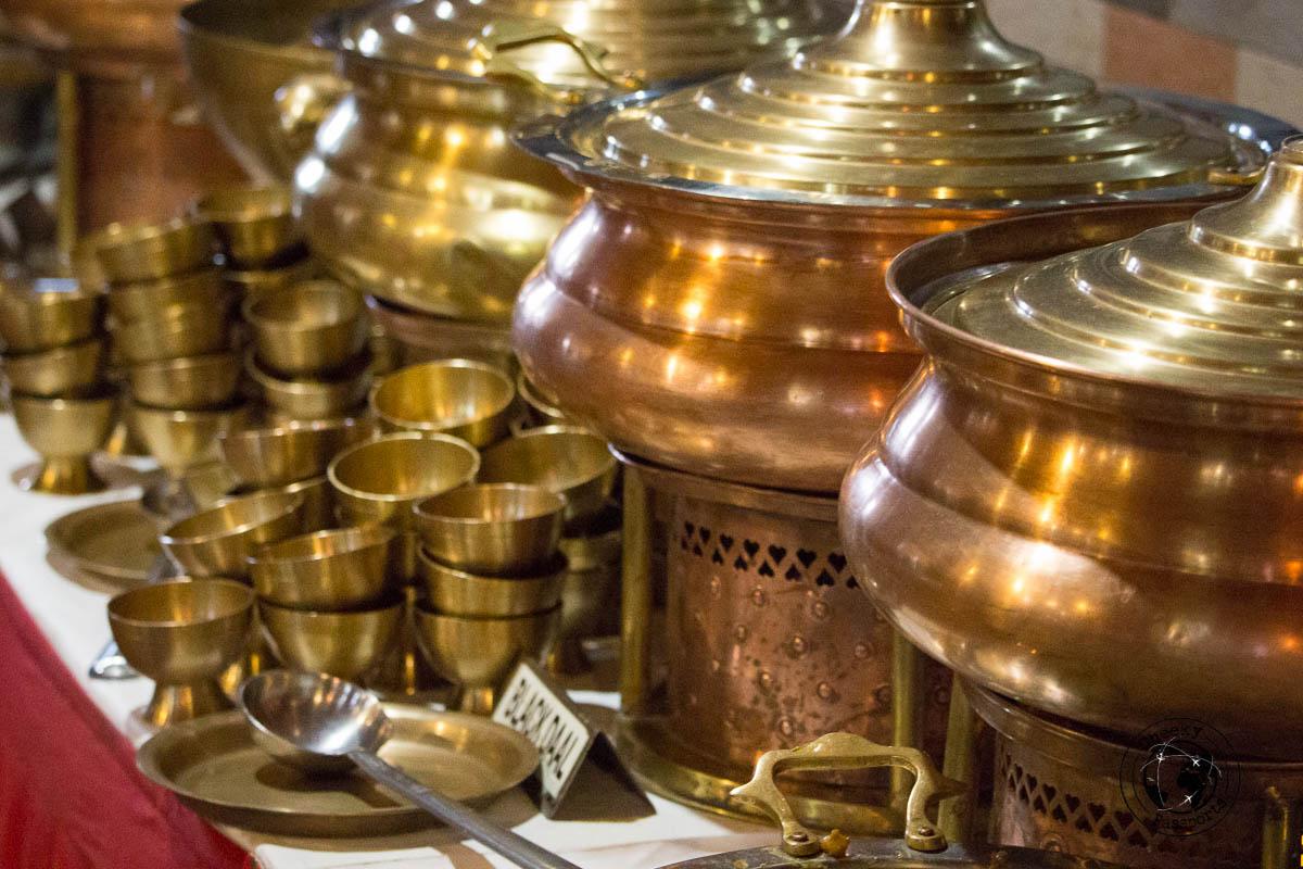 Brass-ware ready for dinner