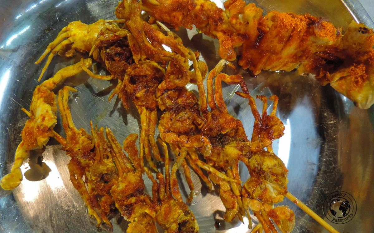 Crab Skewers - street foods in Malaysia