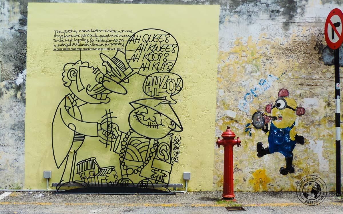 Ah Ouee street - Street Art in Penang