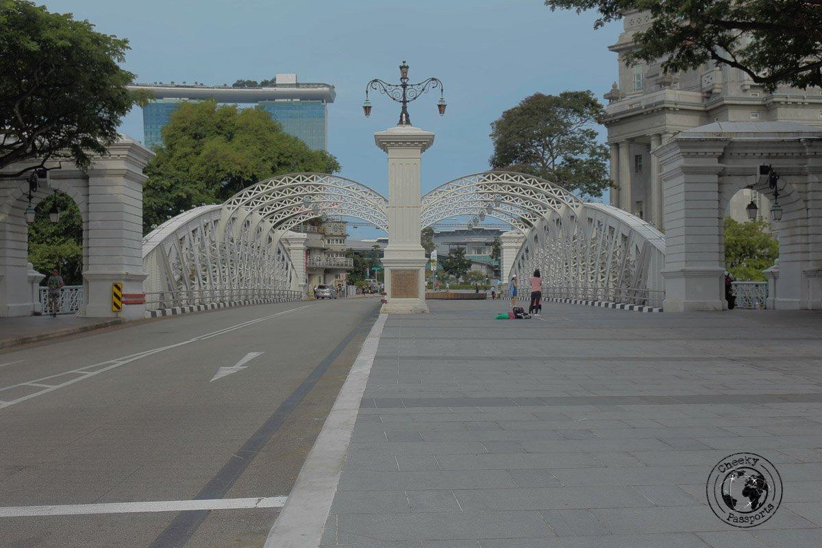 Anderson Bridge - attractions around marina bay
