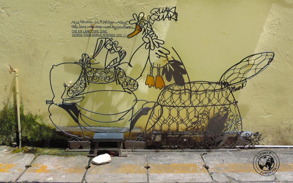 Chicken - Street art of penang