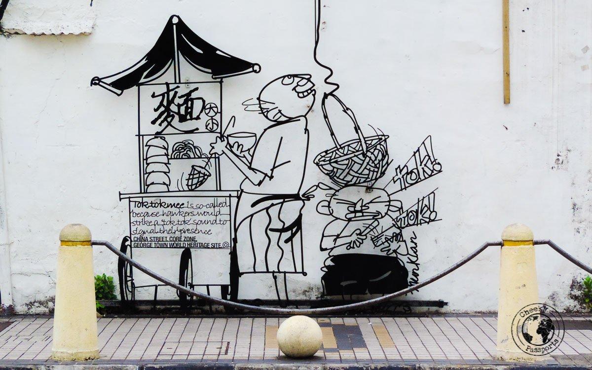 China Street - Street art in penang