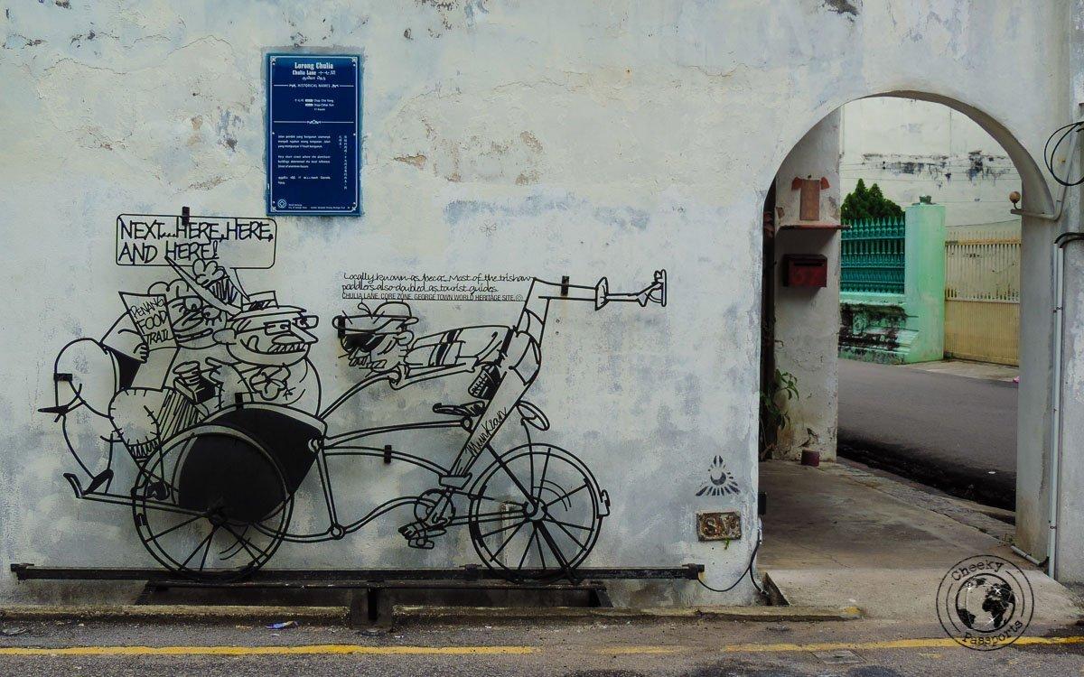 Chulia Lane - Street Art in Penang