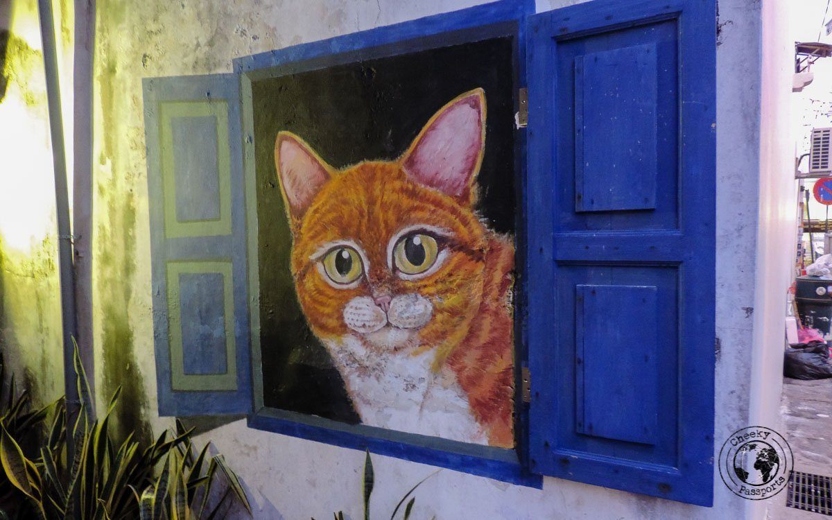 Giant Cat - Street Art in Penang