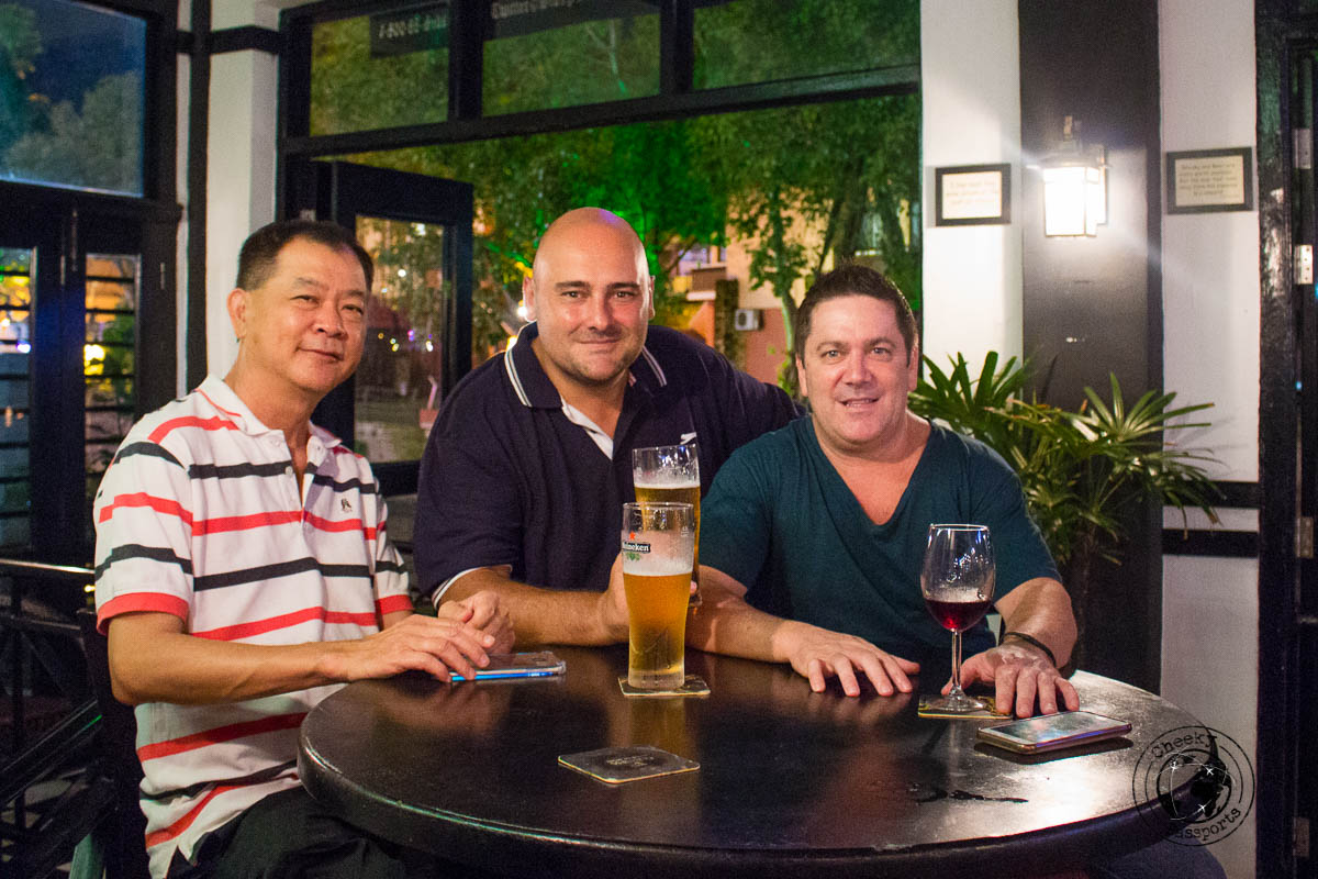 Having a beer at Sid's Pub at Jonker's - Things to do in Melaka