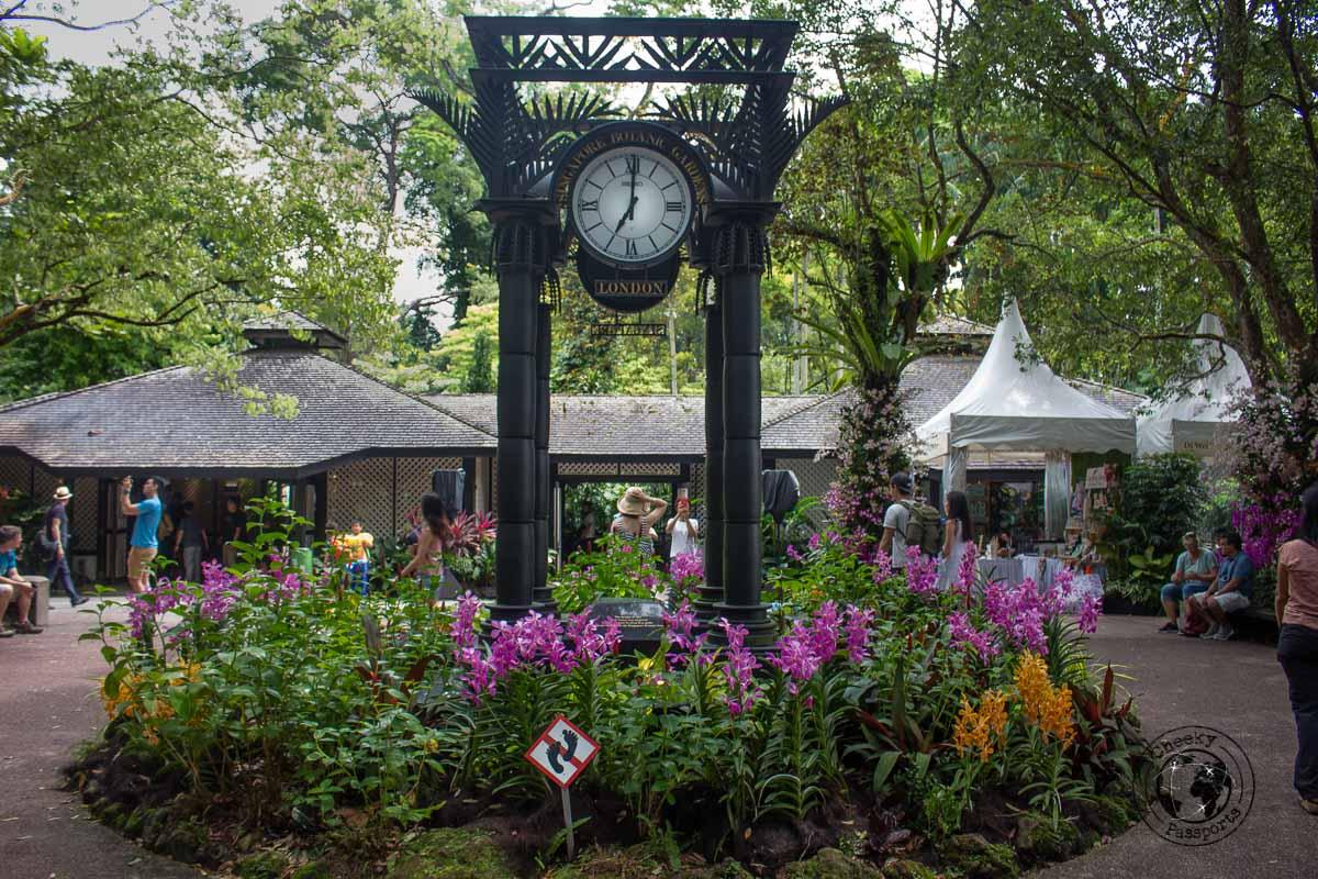 clock at the Botanic Gardens - 3 days in singapore