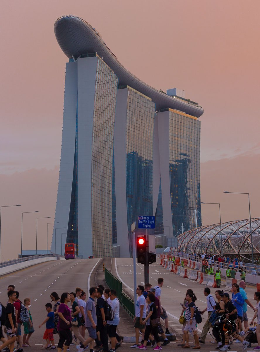 Marina Bay Sands from Helix Bridge - attractions around marina bay