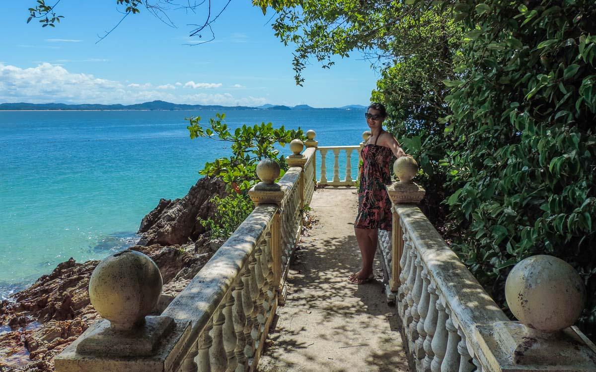 Michelle posing at a walkway in - Kapas island, Pulau Kapas