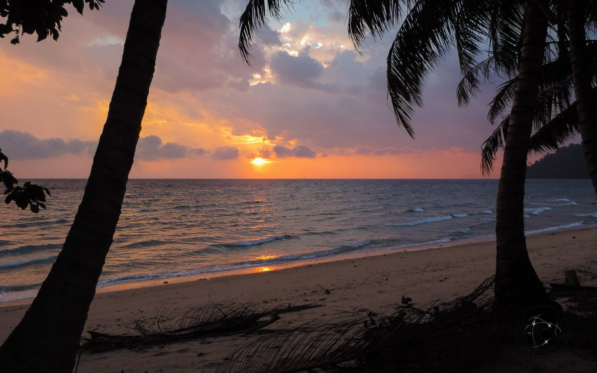 Sunset at Tioman - Beaches, Monkeys and Jungle treks on Tioman Island - Pulau Tioman