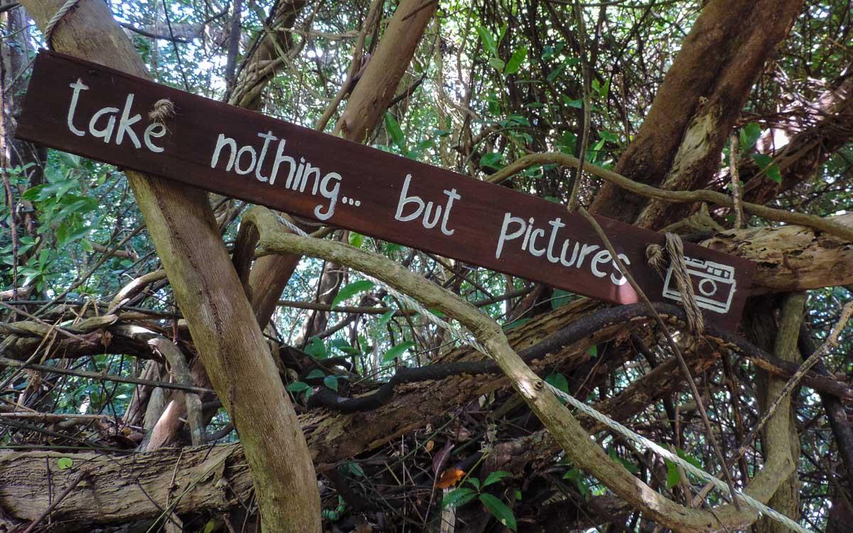 signage at the walk - Kapas island, Pulau Kapas