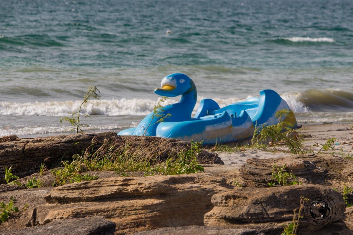 An unlikely sight at Batu Hoda Beach - things to do in Lake Toba