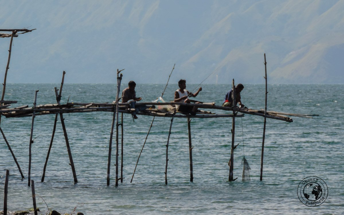 Fishermen at Pantai Sibolazi Lake Toba - A Guide to Lake Toba - travel expenses in Indonesia