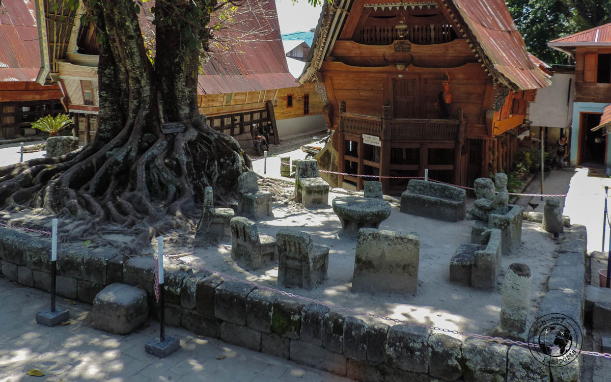 Huta Siallagan Stone Chairs - a guide to lake toba