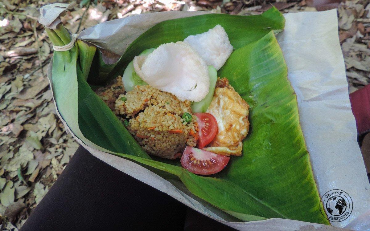 Nasi Goreng picnic during Bukit Lawang trekking