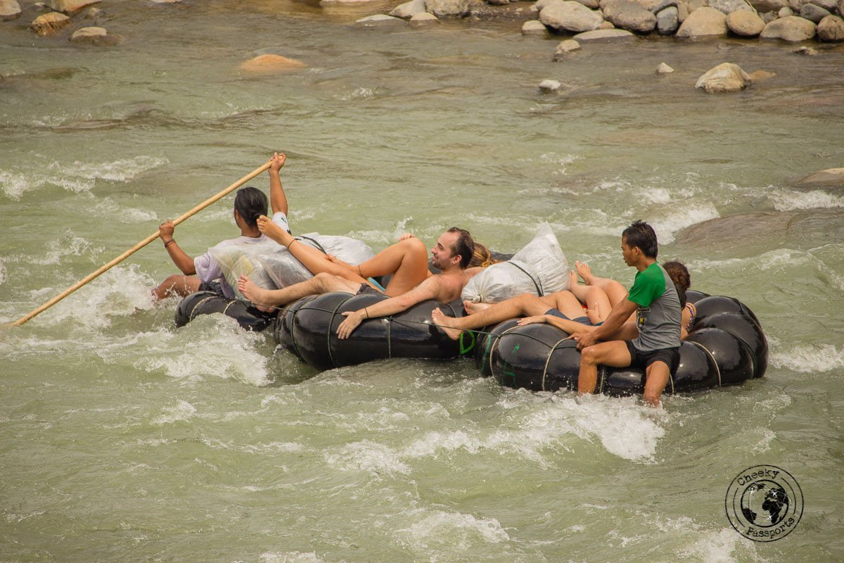Rafting in the river - Bukit Lawang trekking