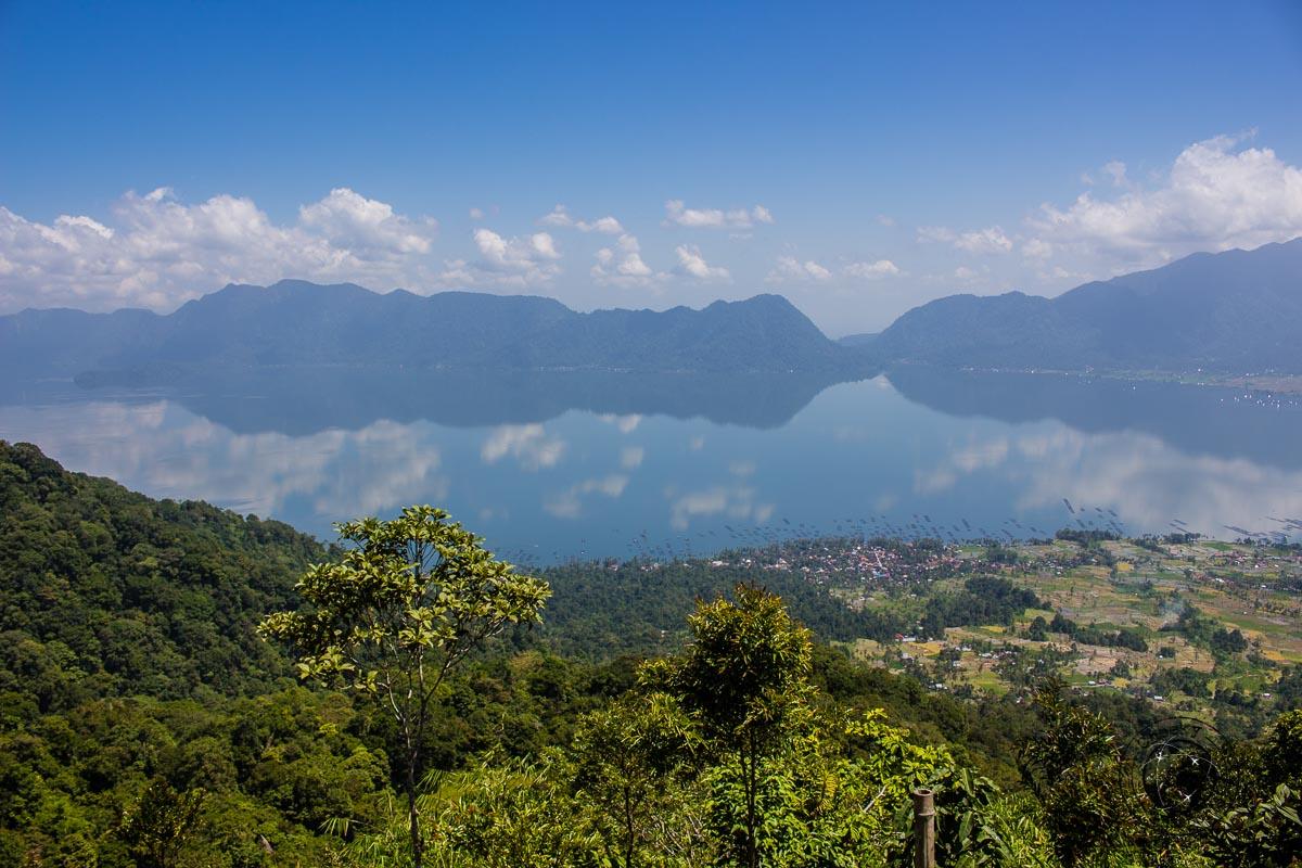 View of Lake Maninjau - things to do in Bukittinggi West Sumatra