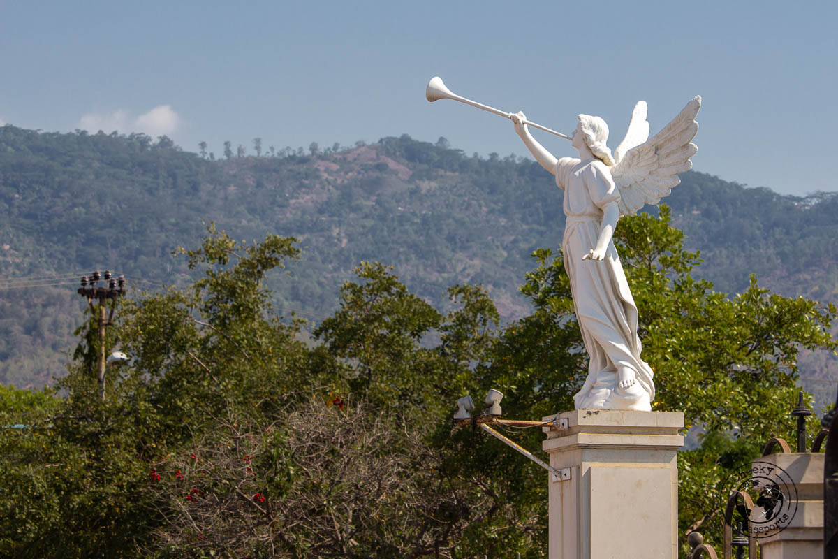 An angel statue at Dili Cathedral - Things to do in Dili, Timor Leste