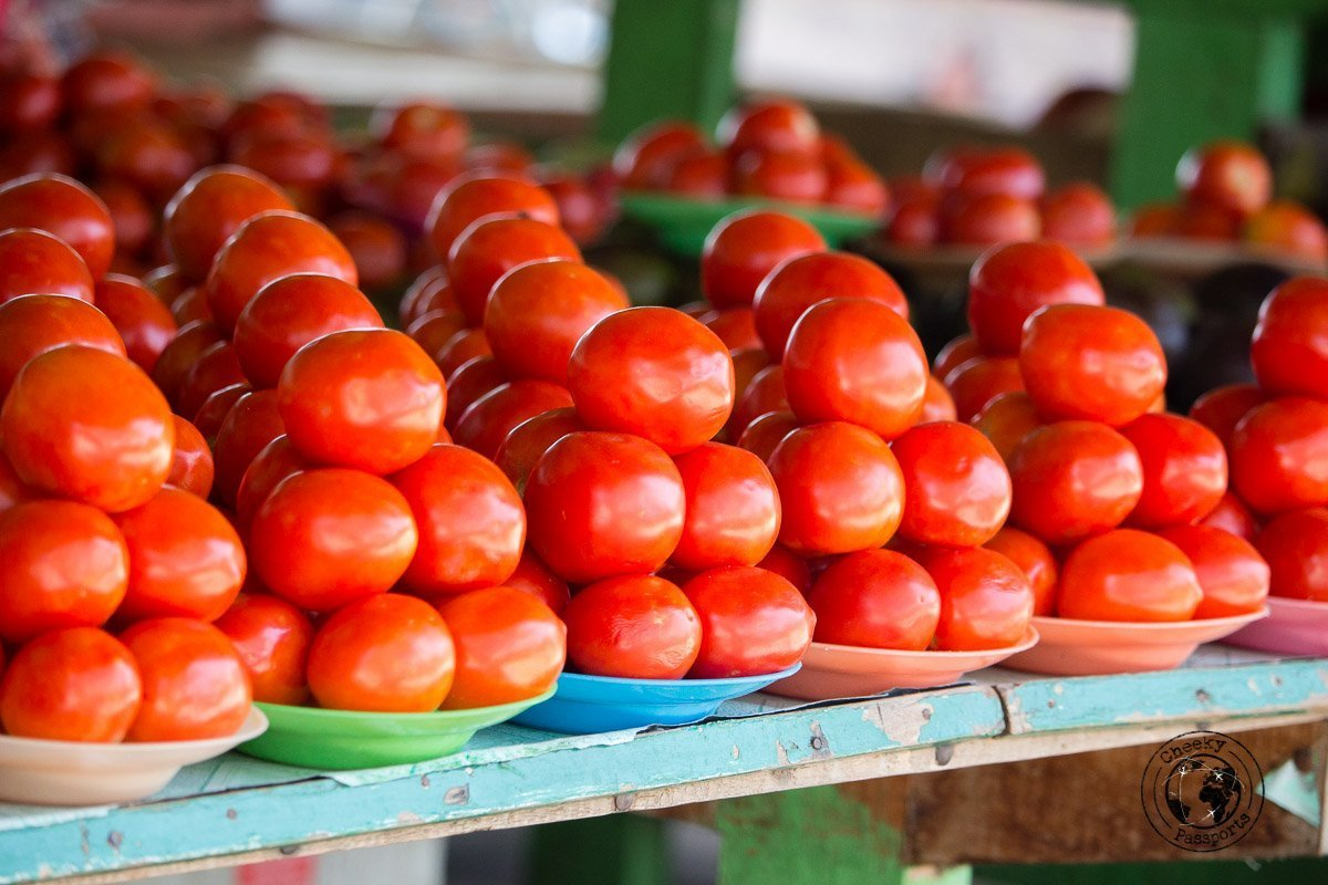 Tomato display at the promenade - Things to do in Dili, Timor Leste - Travel expenses in Timor Leste