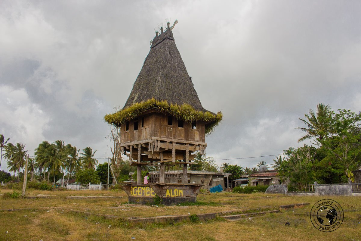 Typical structure in Lospalos, East Timor