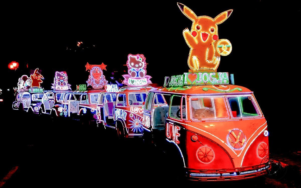colourful paddle cars at Alun-Alun - Places to visit and what to do in Yogyakarta