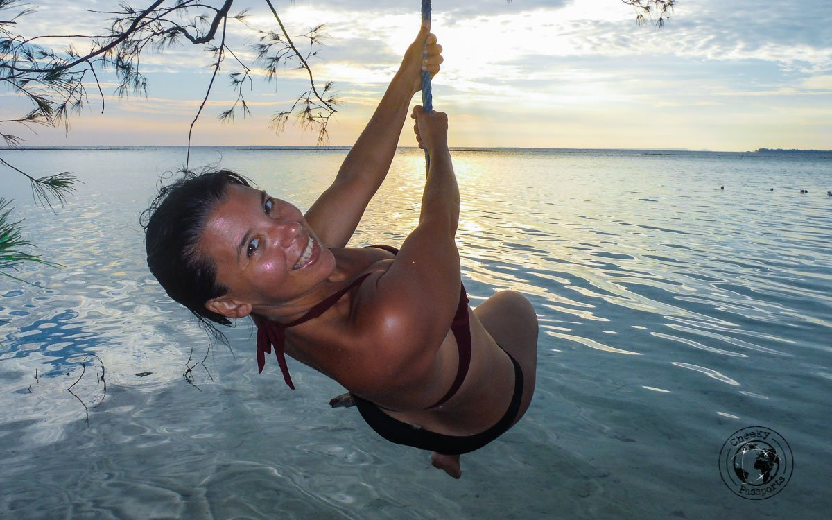 Swinging on a tree - Karimunjawa Islands Travel Guide and Information