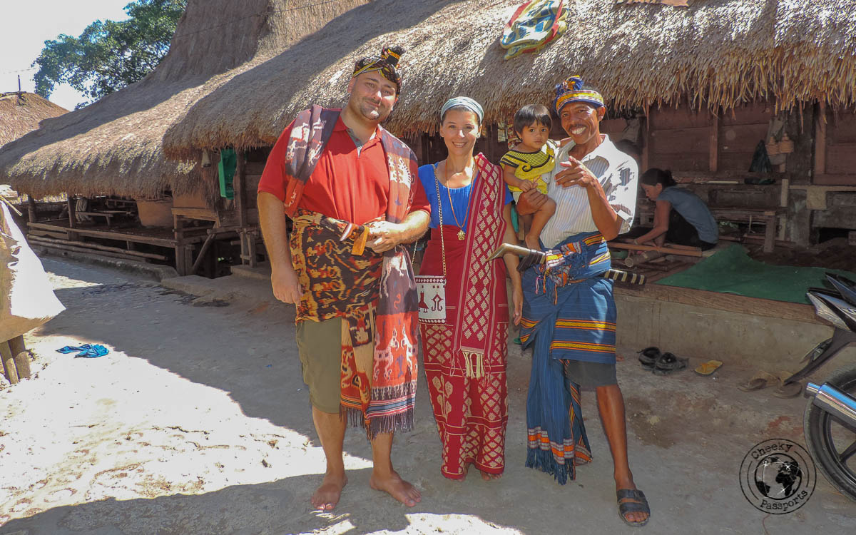 Michelle and Nikki dressing their part - Things to do on Sumba Island Indonesia