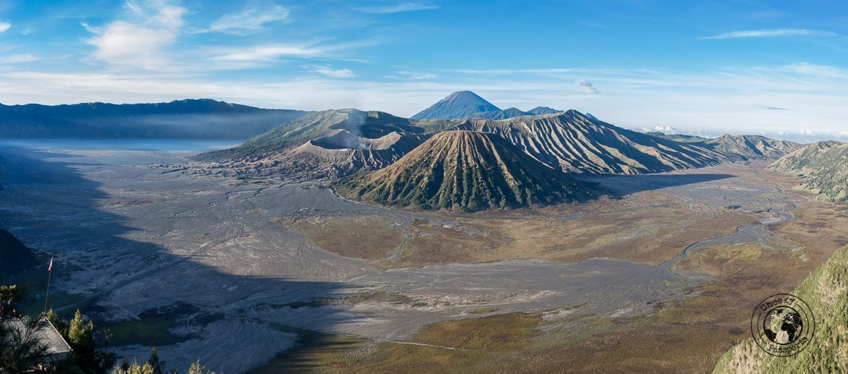 Panormic of Mount Bromo - Mount Bromo Sunrise and Kawah Ijen Blue Flames in 2 days (without a tour)- travel expenses in Indonesia