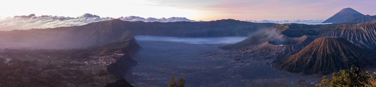 Panormic view of Mount Bromo and the sea of sand - Mount Bromo Sunrise and Kawah Ijen Blue Flames in 2 days (without a tour)