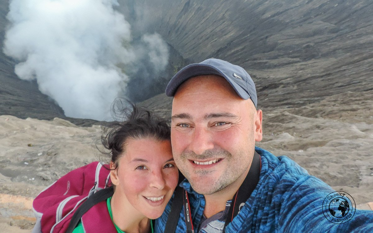 Red faces after a tough climb - Mount Bromo Sunrise and Kawah Ijen Blue Flames in 2 days (without a tour)
