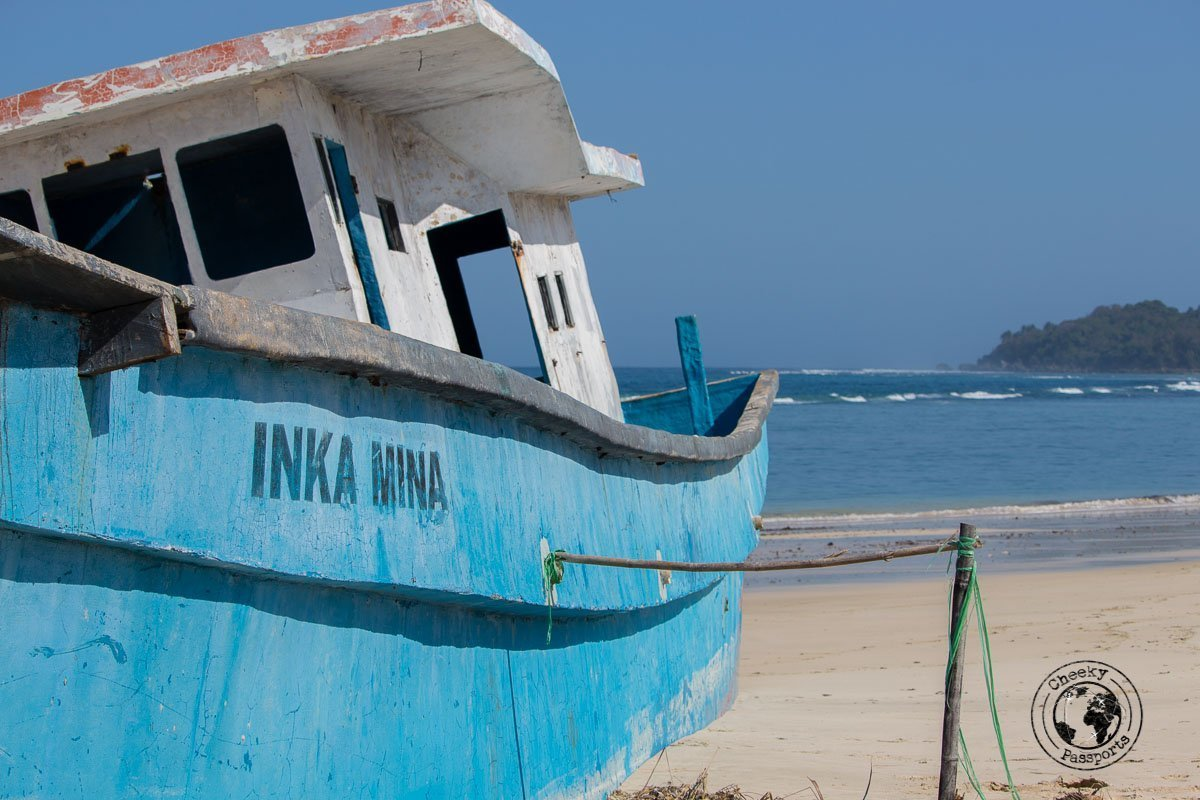 Secluded boat on Rua beach - Things to do on Sumba Island Indonesia