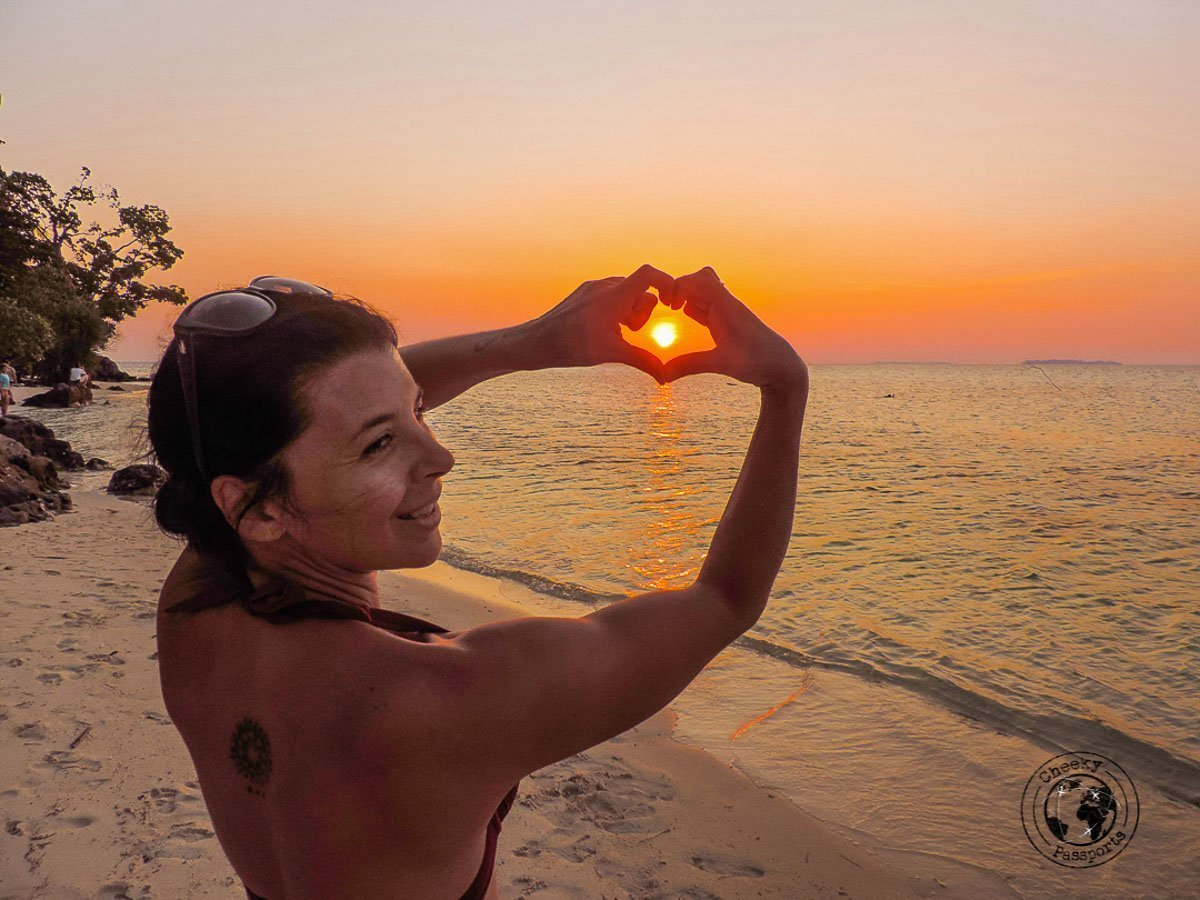 Sunset at Sunset beach with Michelle - Karimunjawa Islands Travel Guide and Information