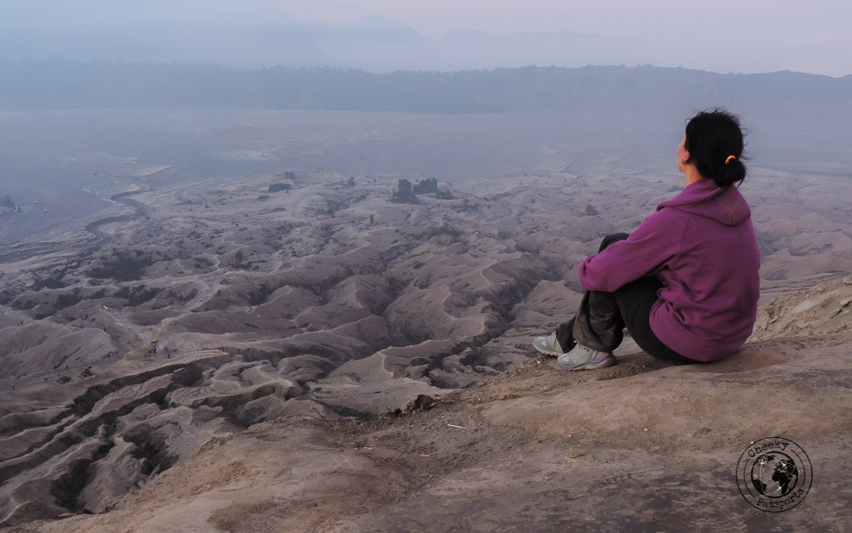 The from from the top of BromoMount Bromo Sunrise and Kawah Ijen Blue Flames in 2 days (without a tour)