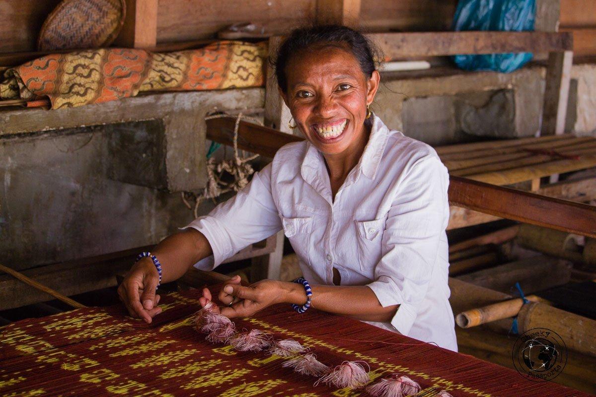 Traditional lacing at Kampung Tarung - Things to do on Sumba Island Indonesia