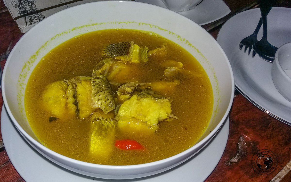 Ikan Kuah Asam Fish Soup in Alor Island, Indonesia