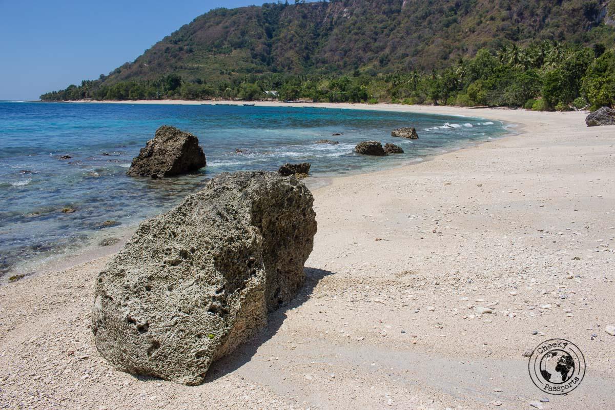 Pantai Batu Putih in Alor Island, Indonesia