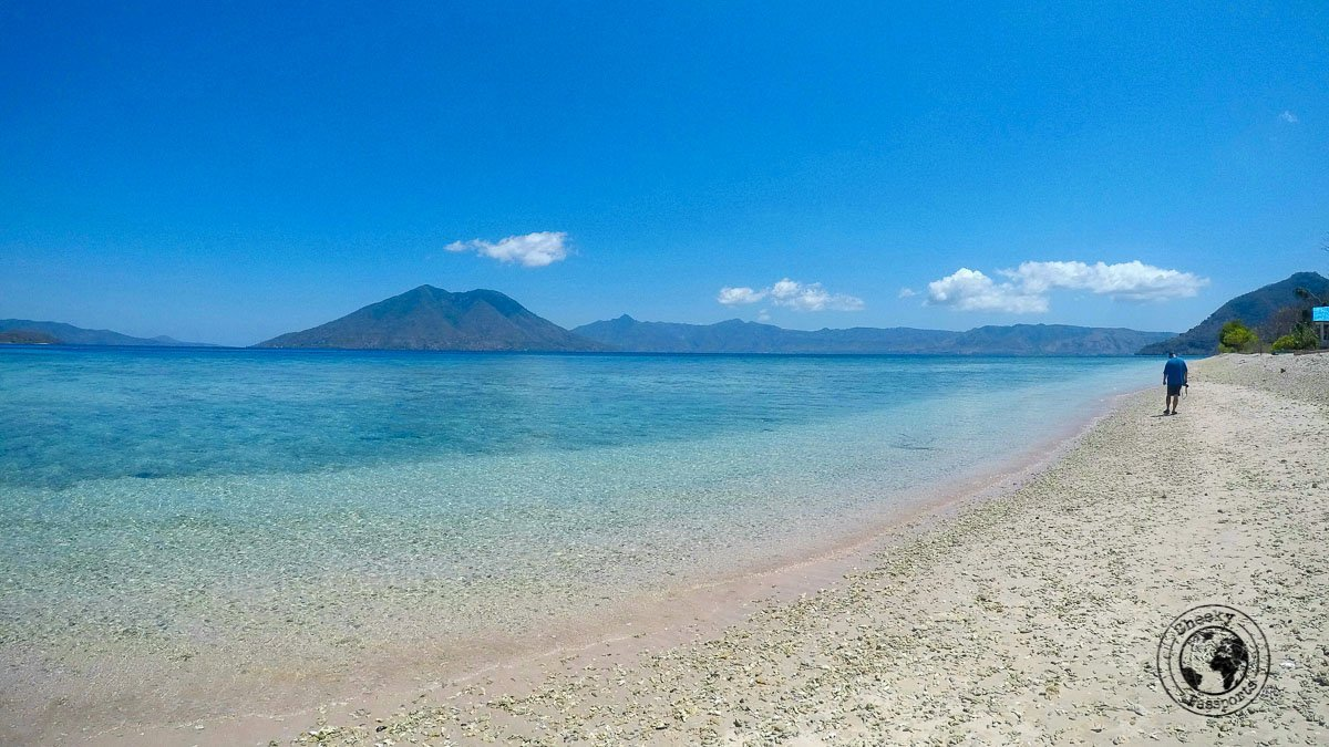 Sebanjar beach in Alor Island, Indonesia