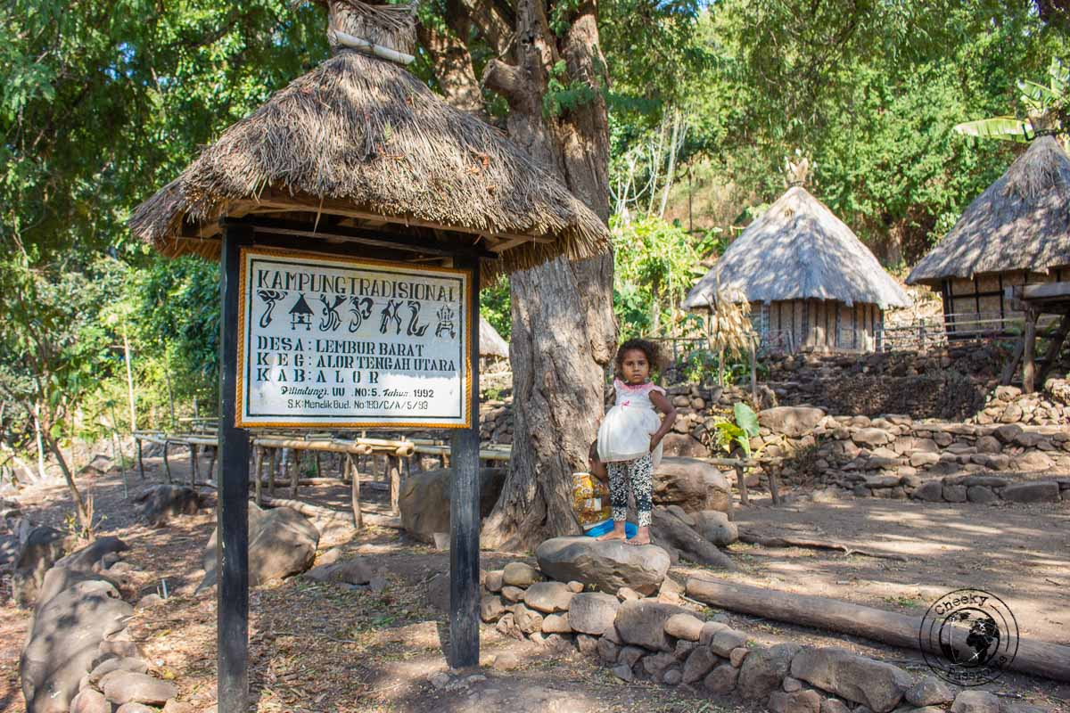Takpala Traditional Village in Alor Island, Indonesia