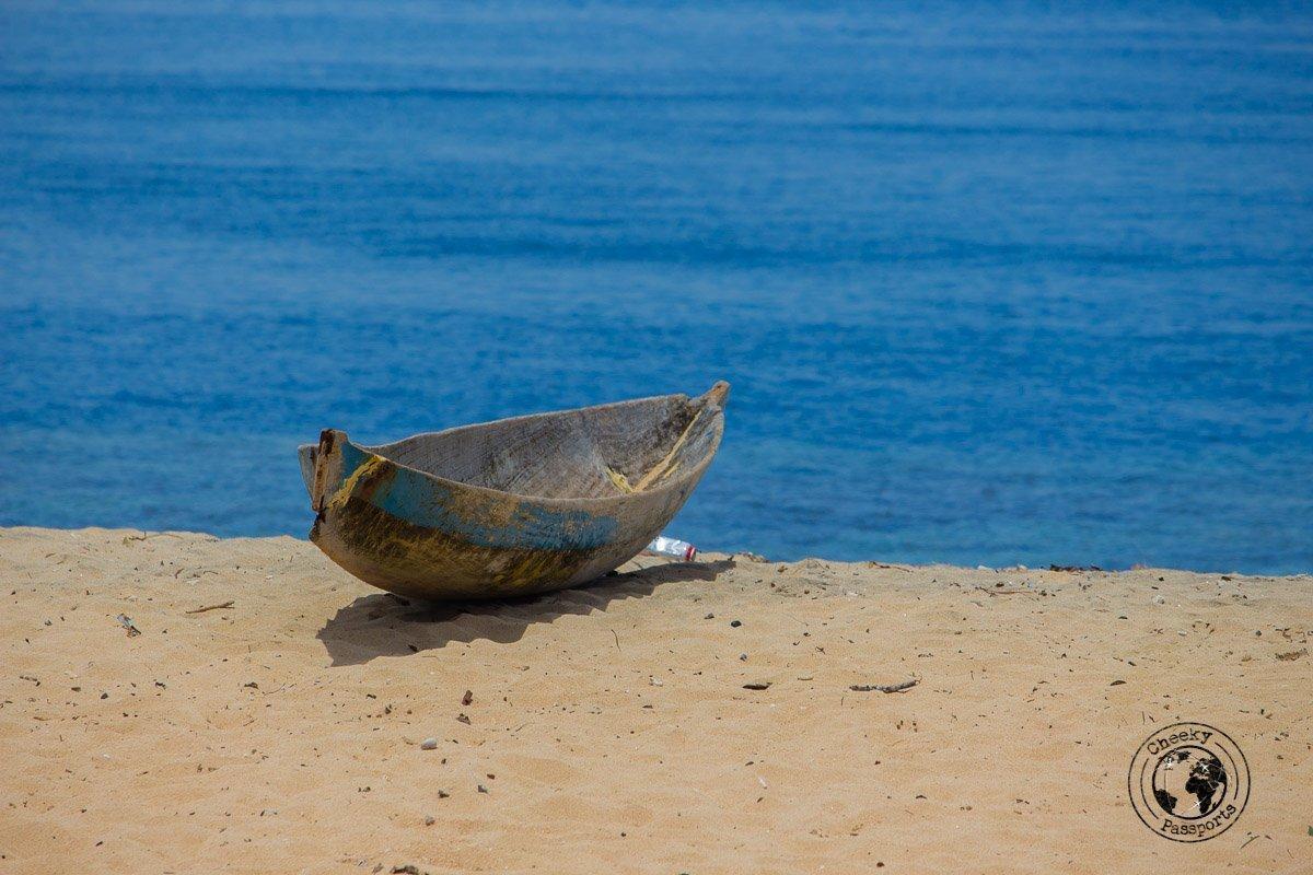 A Boat in Banda Hatta, Spicing it up at the Banda Islands Maluku Indonesia
