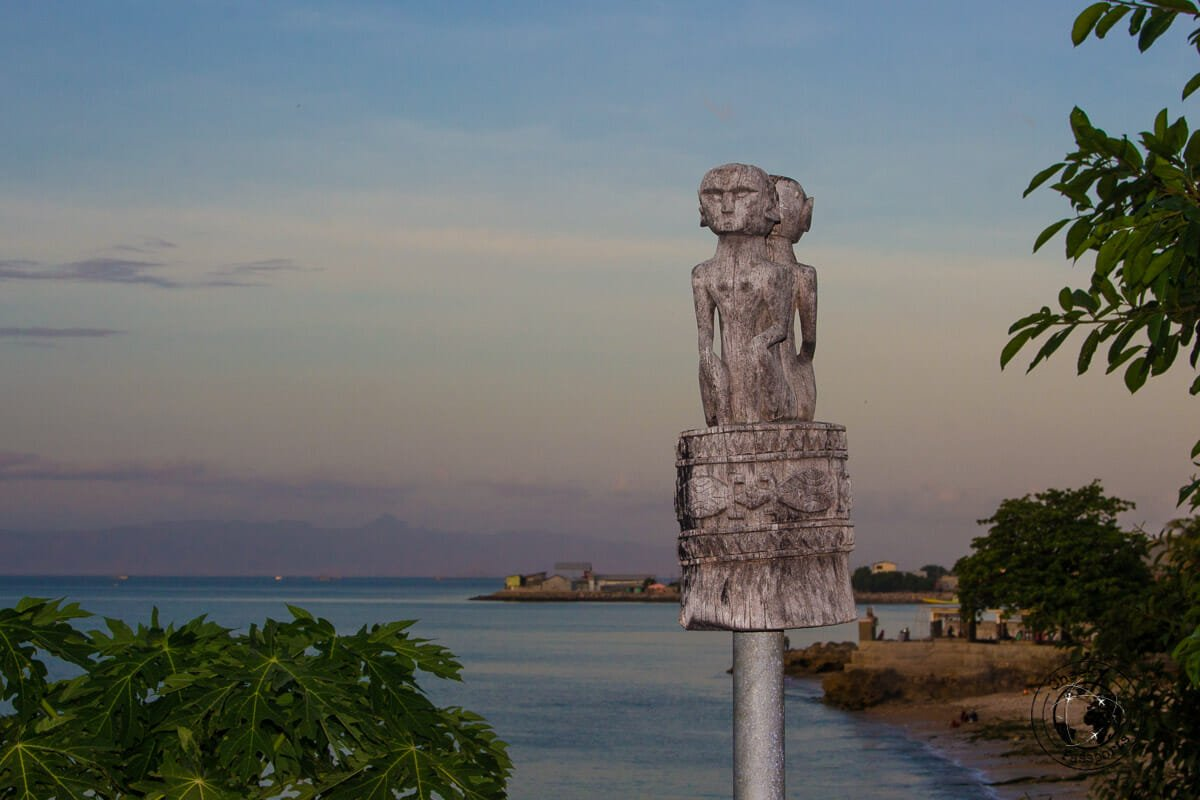 A totem at our residence in Kupangwhilst exploring West Timor Indonesia. Exploring Indonesia 's most remote places.