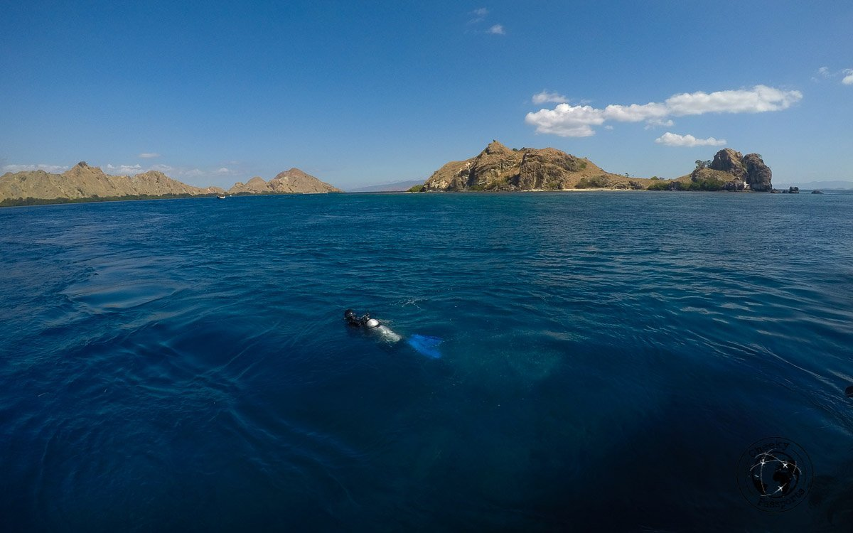 Nikki diving in Komodo National Park