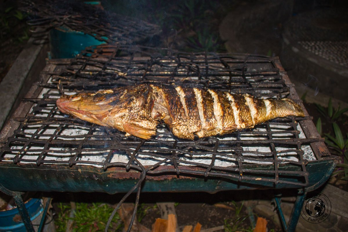 Grilled fish at the Cilu Bintang Estate BBQ, Banda Islands, Maluku